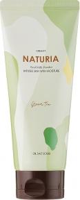 Скраб натуральный с экстрактом зеленого чая для тела Evas Naturia Creamy Oil Salt Scrub Green Tea 250ml