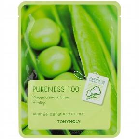 Маска тканевая для омоложения кожи с экстрактом соевых бобов Tony Moly Pureness 100 Mask Sheet Placenta 25ml